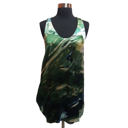 Nicole Miller Silk Watercolor Dress