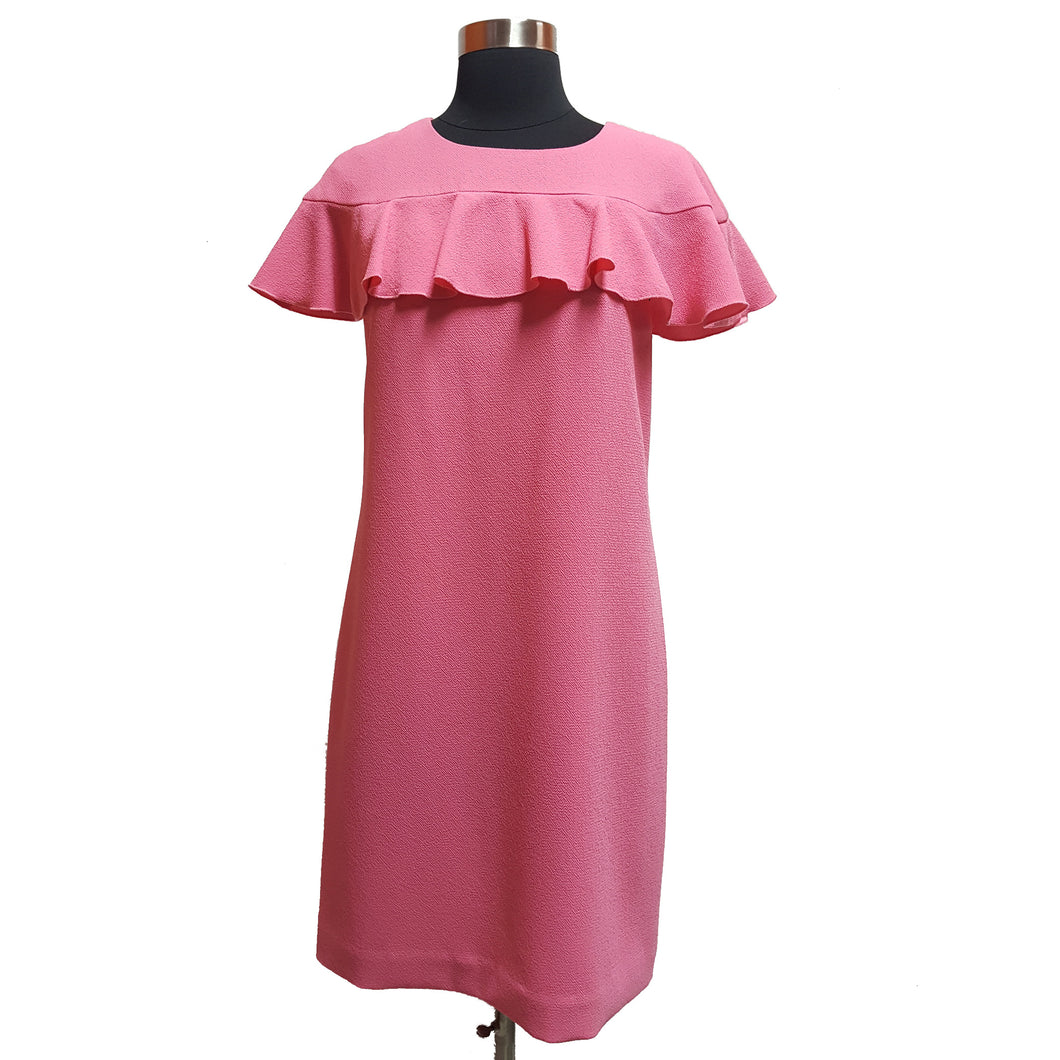 Trina Turk Textured Dress with Ruffled Sleeves