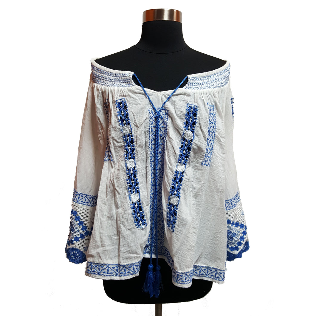 Free People Embroidered Blouse