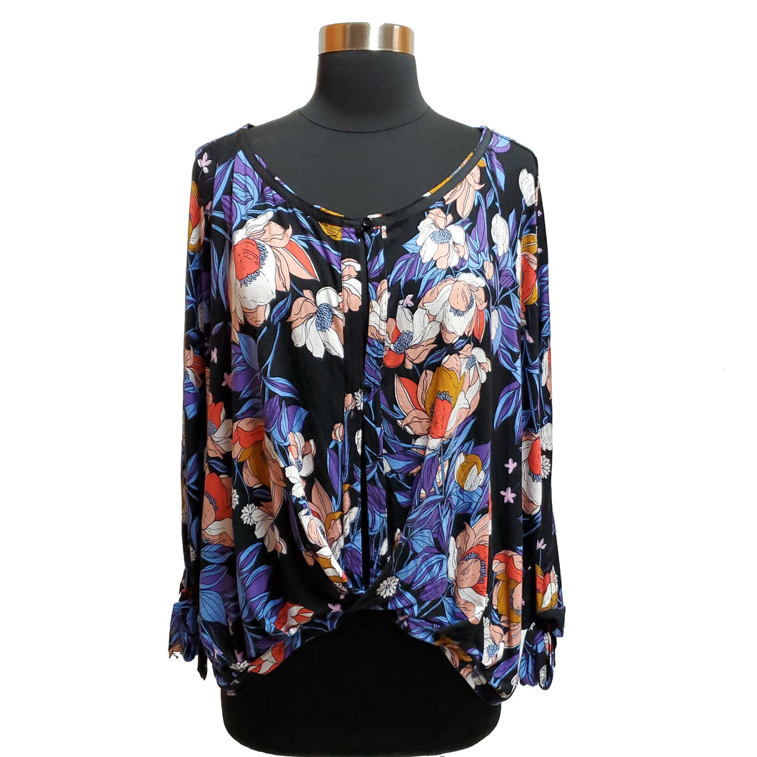 Free People Faux Wrap Floral Top