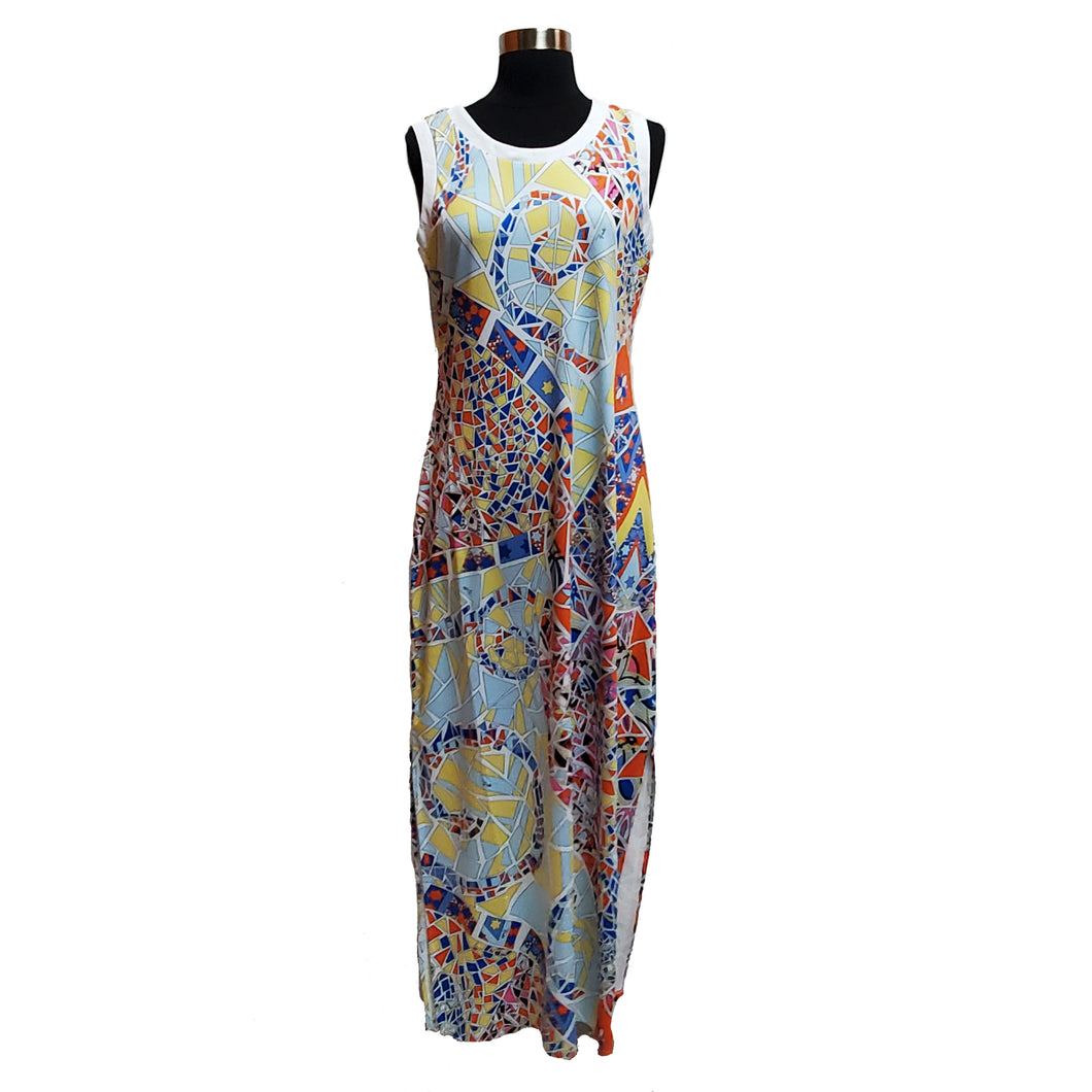 Emilio Pucci Geometric Maxi Dress