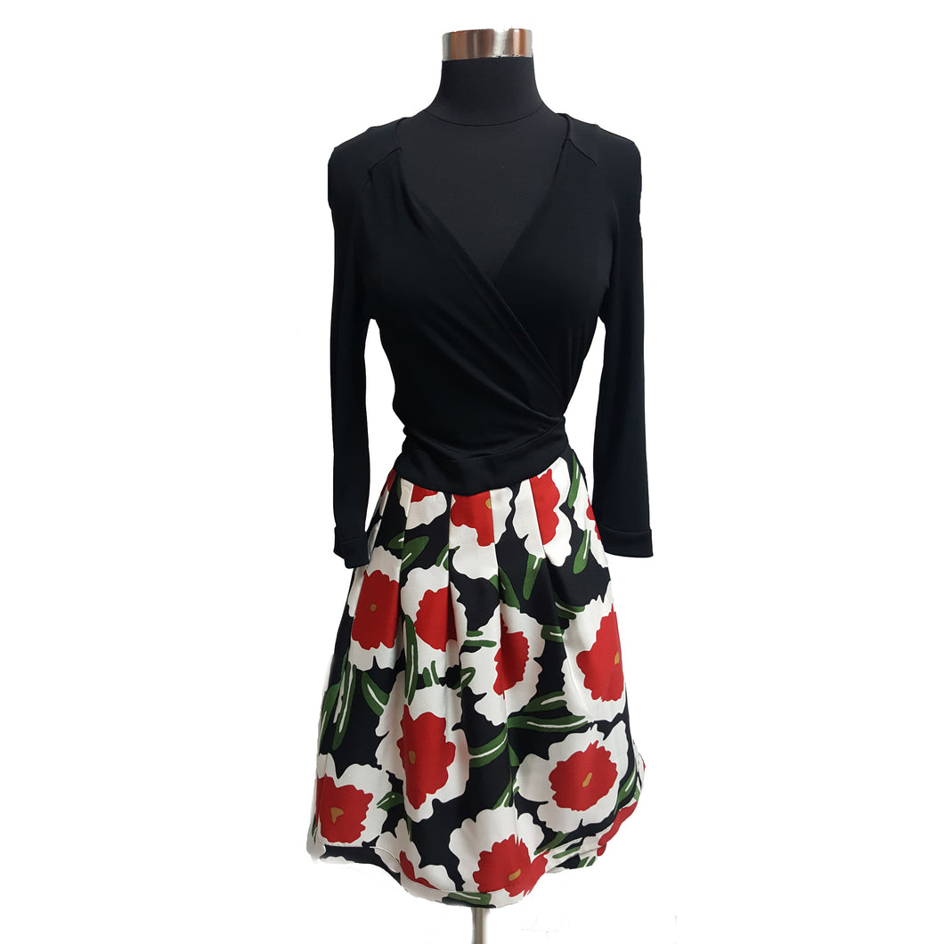 Diane Von Furstenberg Wrap Floral Dress