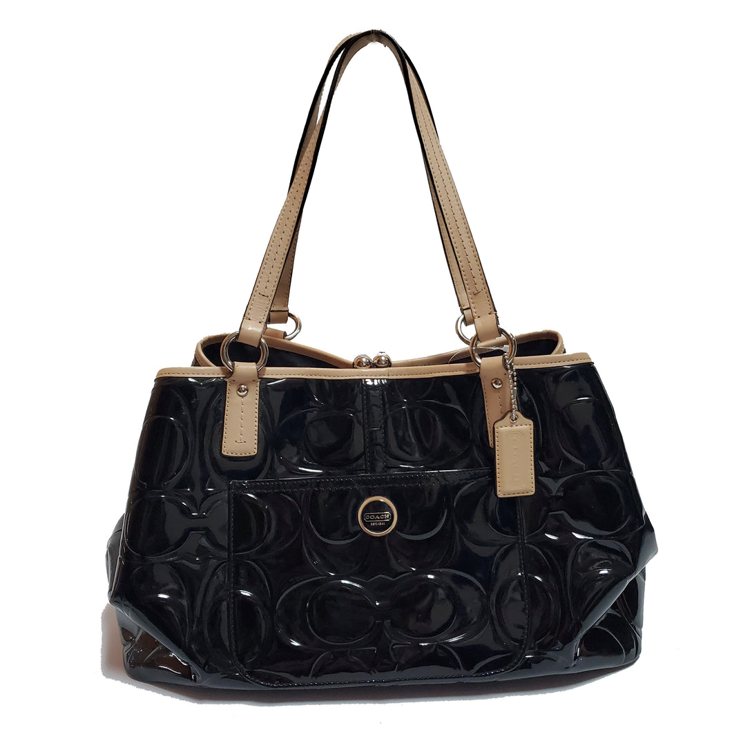 Coach Patent Quilted Purse