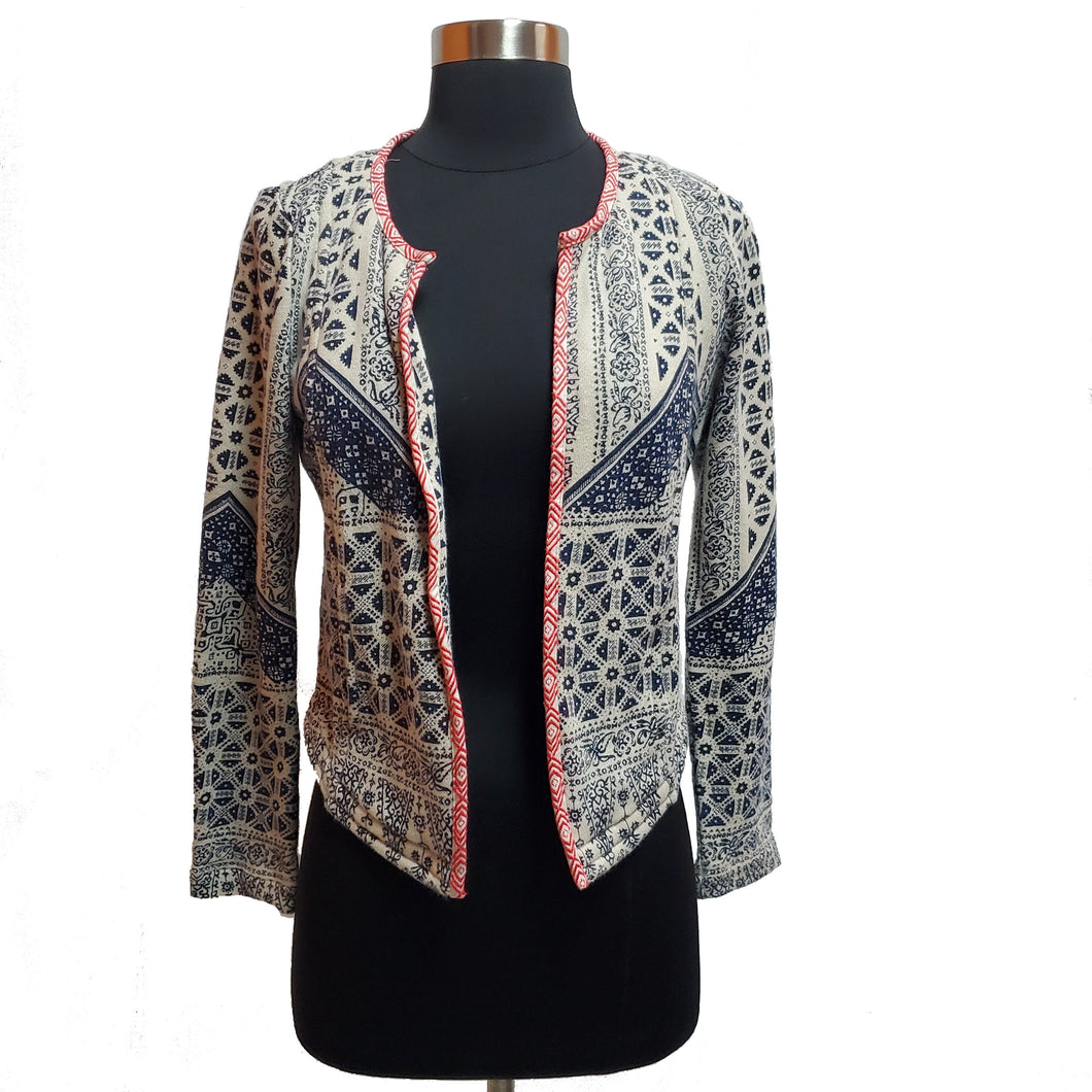 Lucky Lotus Knit Open Jacket