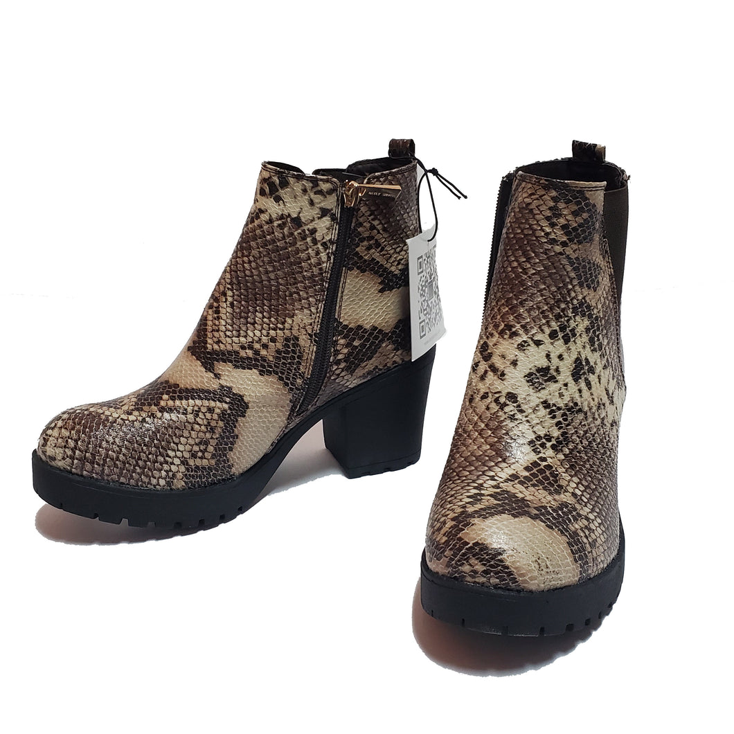 Daily Shoes Snakeskin Bootie
