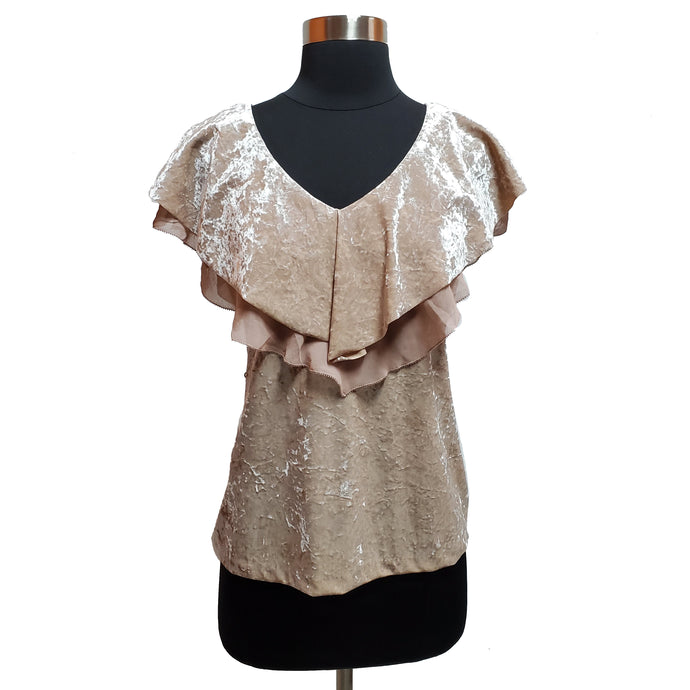 White House Black Market Velvet Top