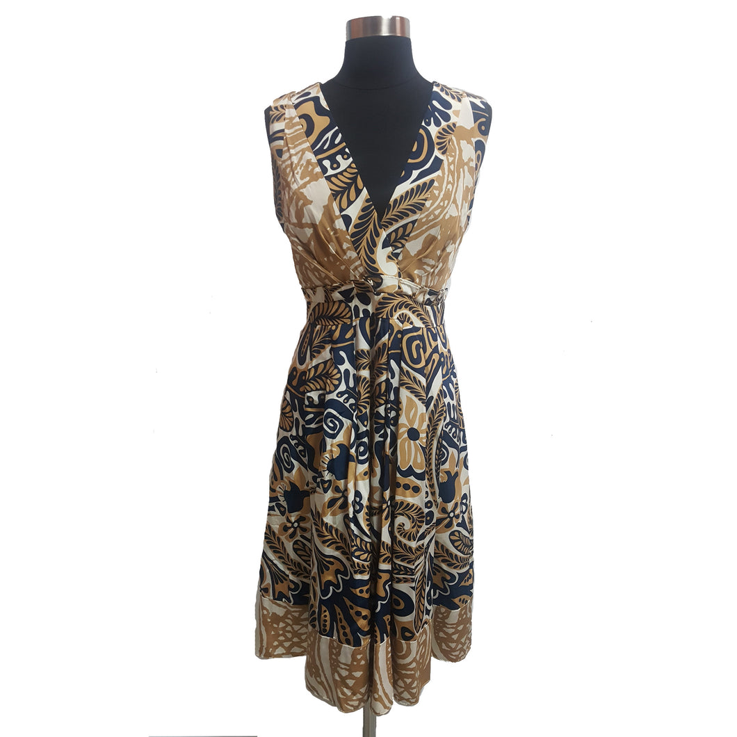 Kay Unger Leaf Pattern Dress