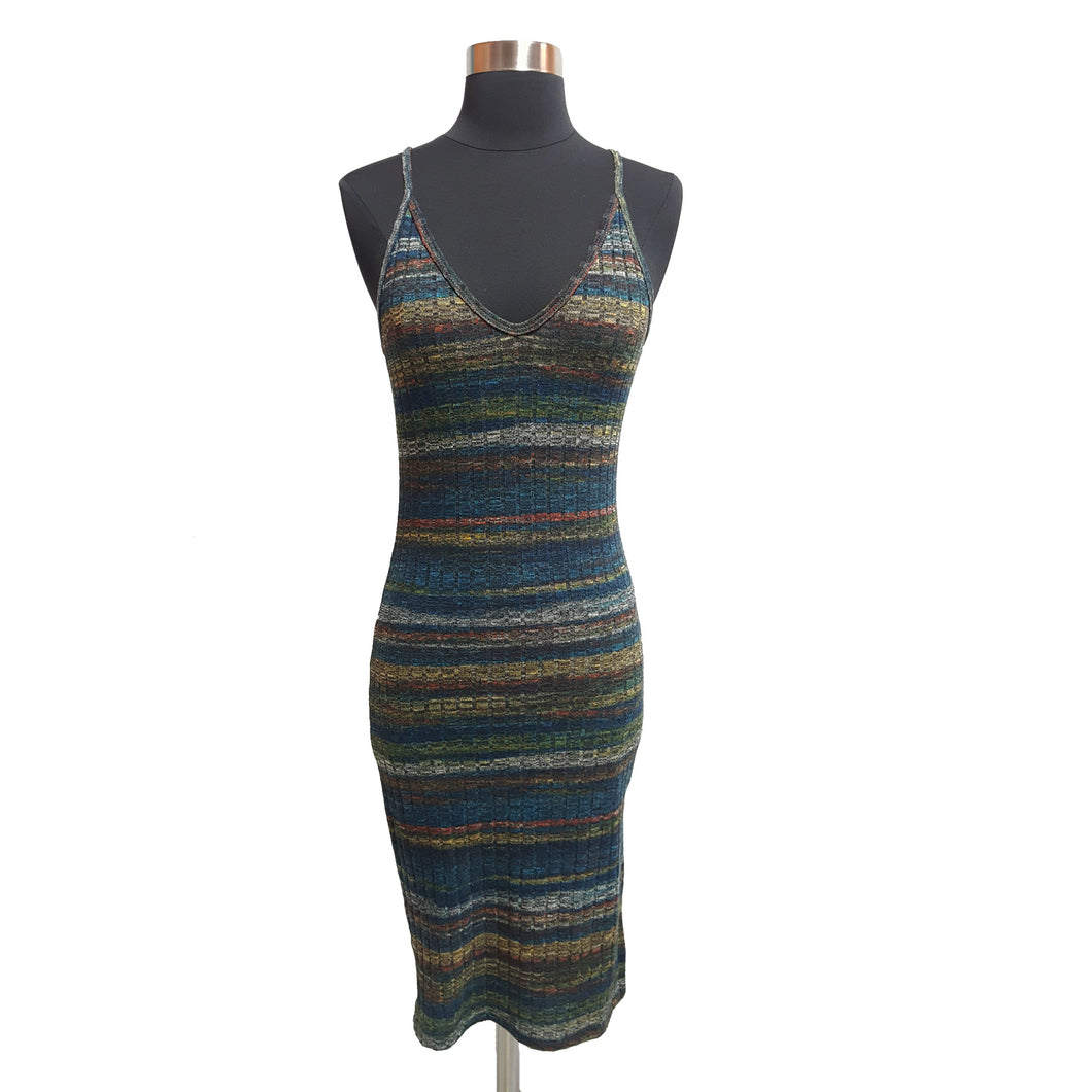 Lush Stripe Bodycon Dress