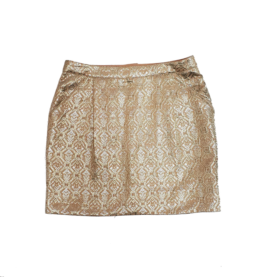 Tara Jarmon Metallic Skirt