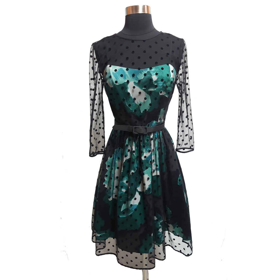 Eliza J Lace Overly Watercolor Dress