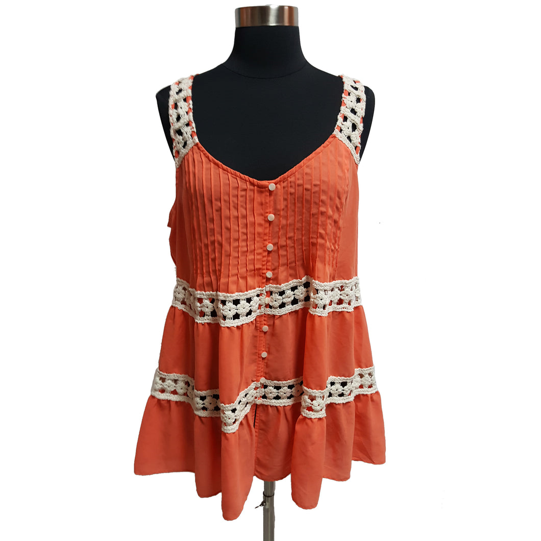 Vanessa Virginia from Anthropologie Cutout Lace-Trimmed Tank