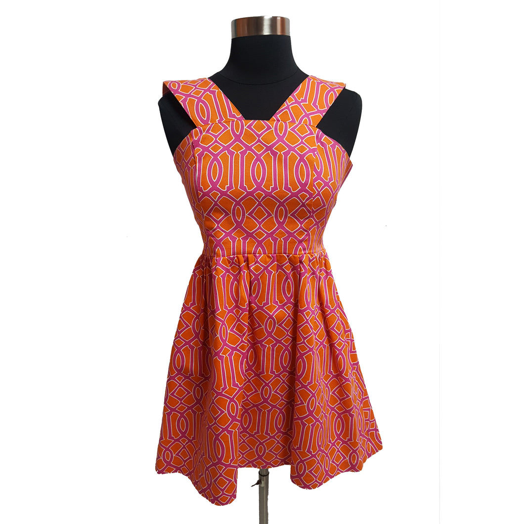 Mudpie Sleeveless Peplum Pattern Dress