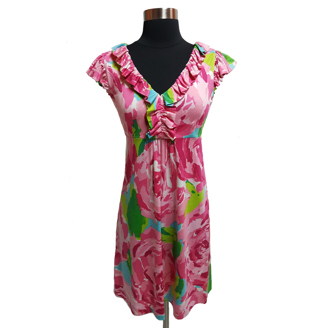 Lilly Pulitzer Capsleeve Floral Dress
