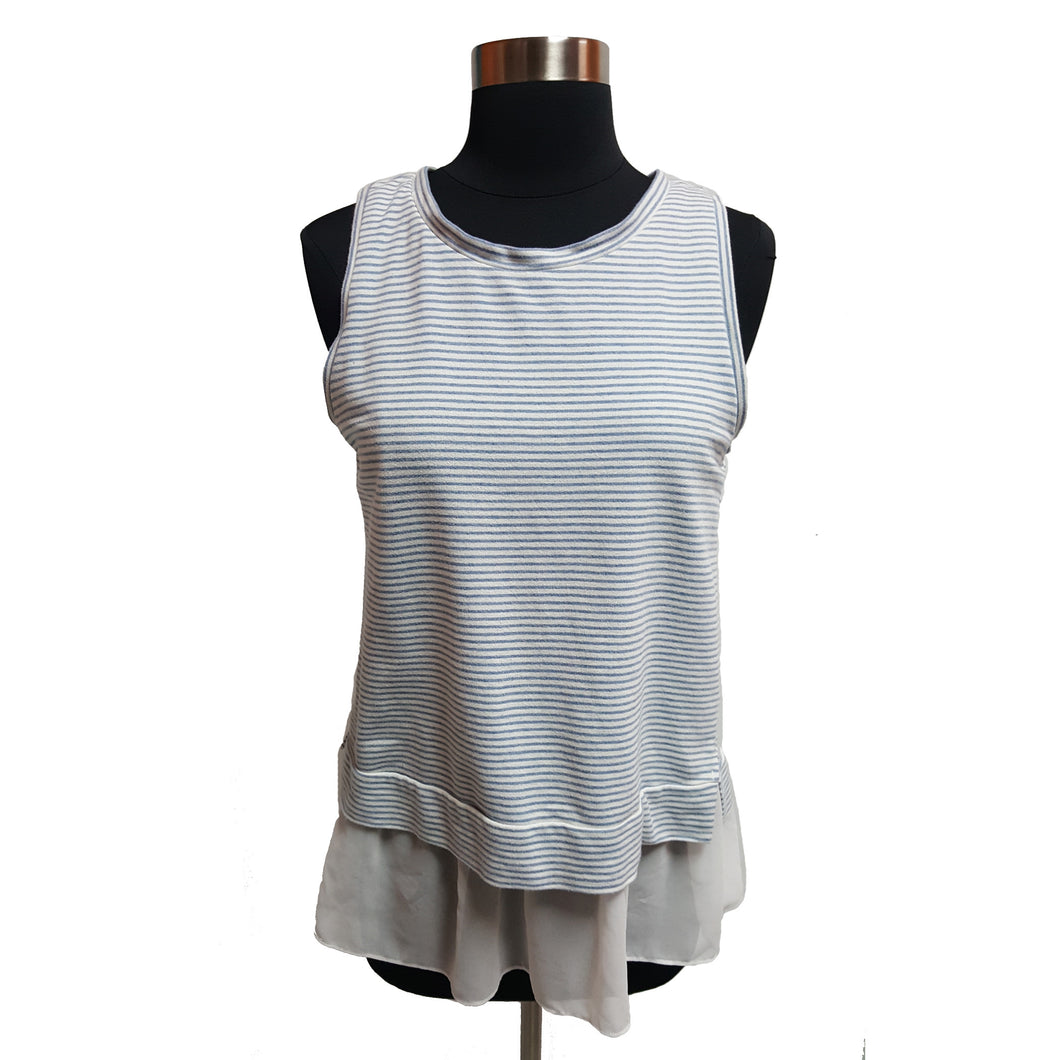 Wells Grace Stripe Layer Tank