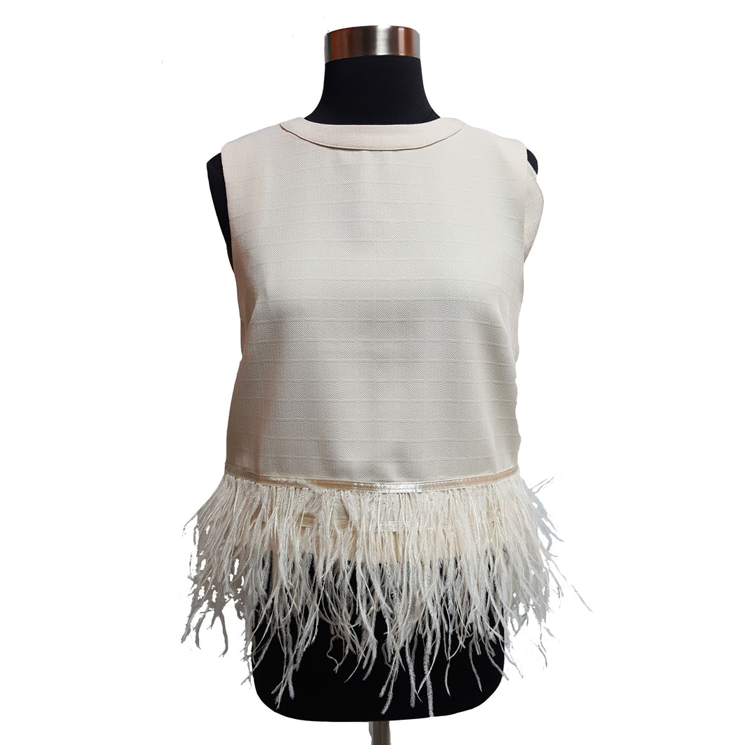 Endless Rose Top with Feather Hem