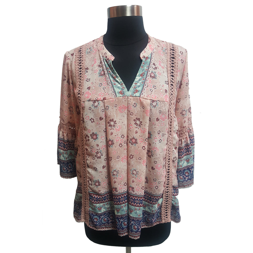 Knox Rose Three Quarter Bell Sleeve Pattern Top