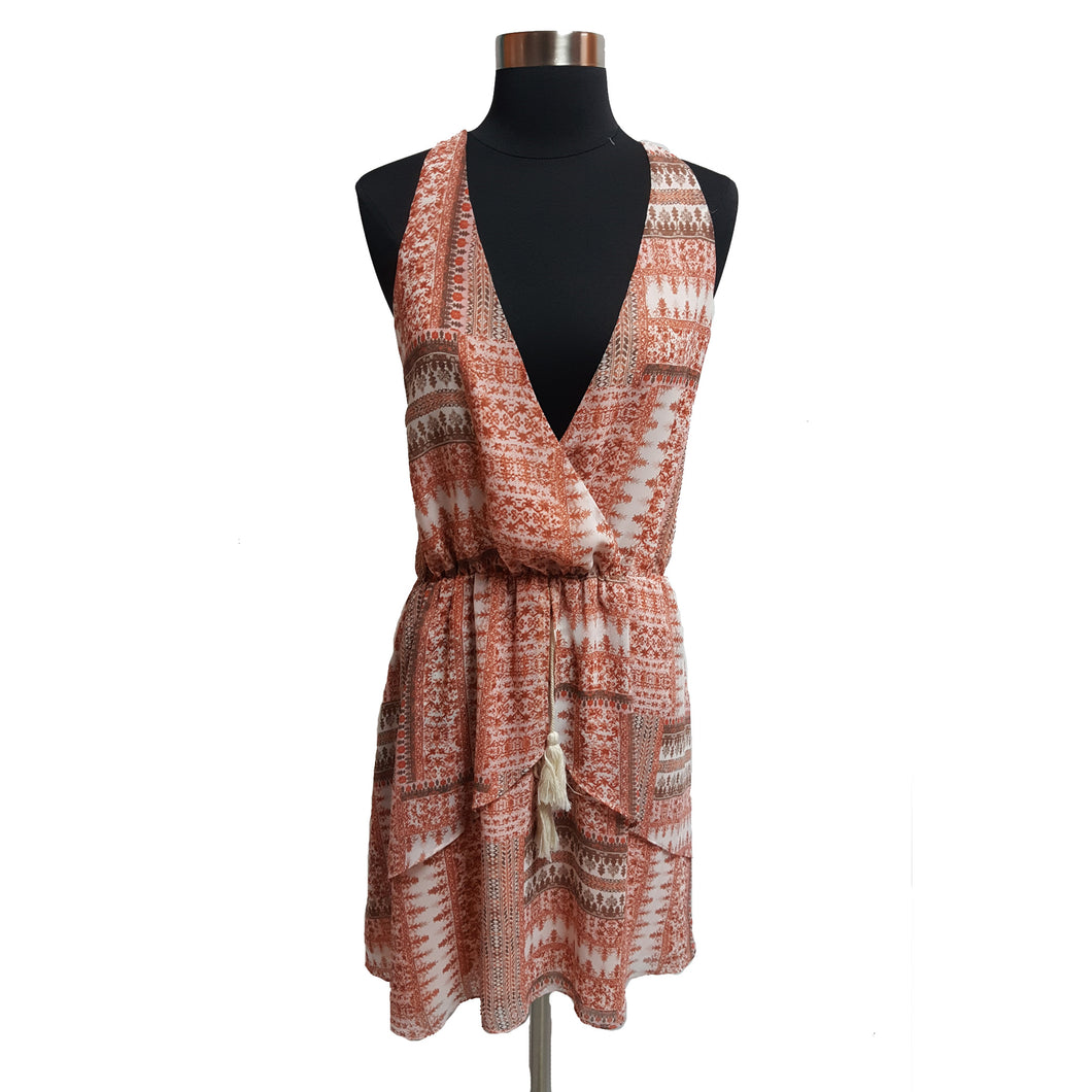 BCBGeneration Sleeveless Pattern Flowy Dress