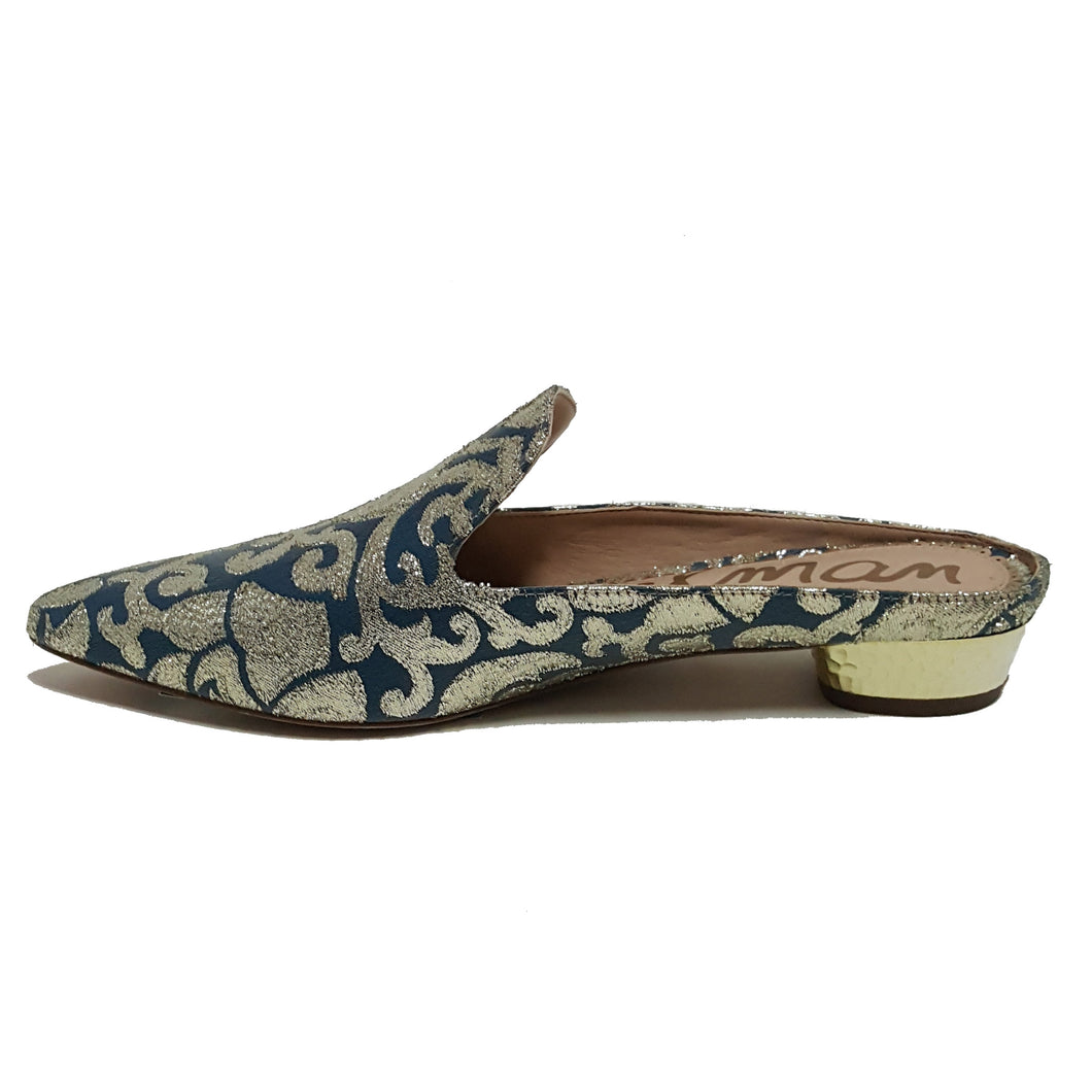 Sam Edelman Metallic Point Toe Slide on Shoe