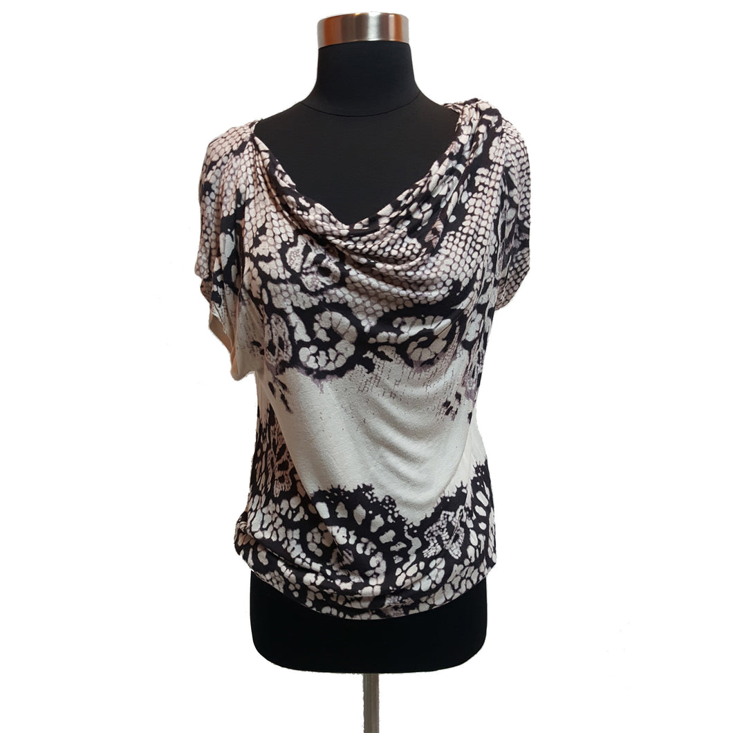 Vanessa Virginia from Anthropologie Reptile Pattern Top