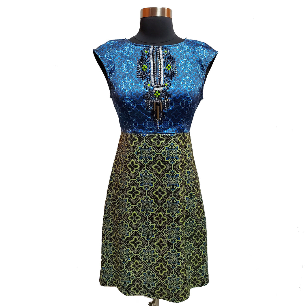 Hale Bob Patterned Dress with Gems