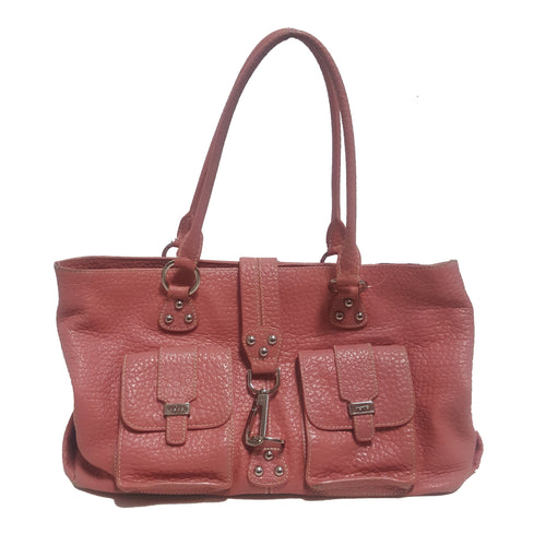 Rafe Two Strap Leather Buckle Tote