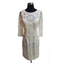 Sue Wong Lace & Embroidered Sheath Dress