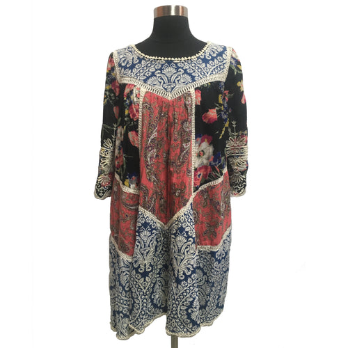 Vanessa Virginia from Anthropologie Multi-Pattern Dress