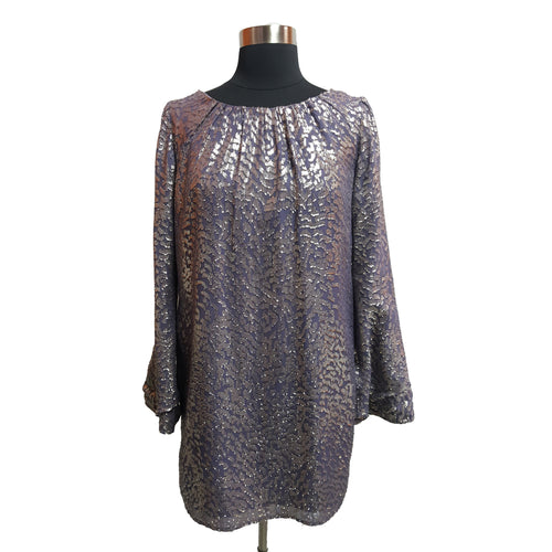 Shoshanna Textured Metallic Dress