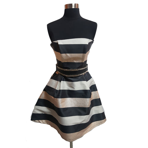 Relish Collection Striped Strapless Dress