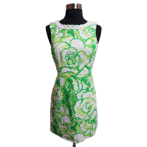 Lilly Pulitzer Floral Shift Dress With Appliques