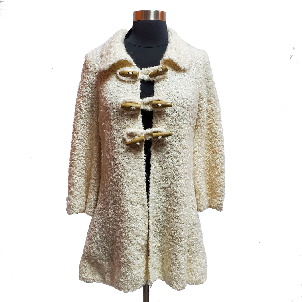 Sleeping On Snow Toggle Button Coat