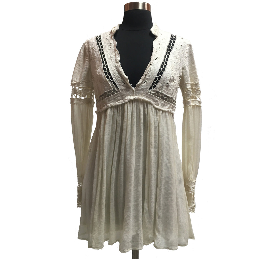 Free People Lace & Chiffon Tunic