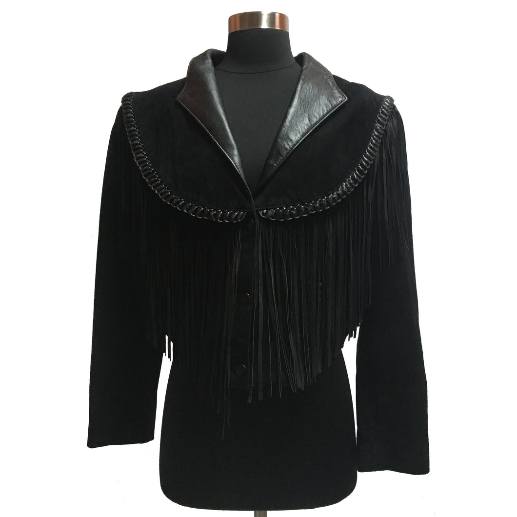 Diamond Leathers Fringed Jacket