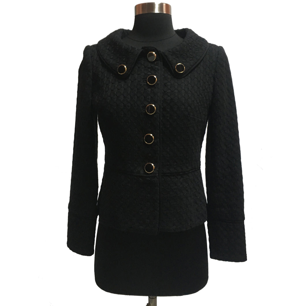 Milly Textured Button Jacket