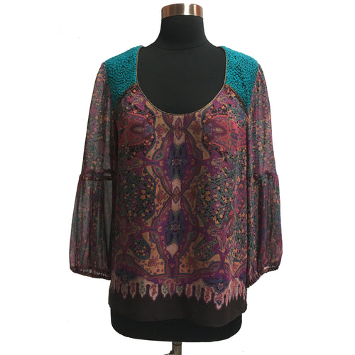 Nanette Lepore Silk Patterned Blouse