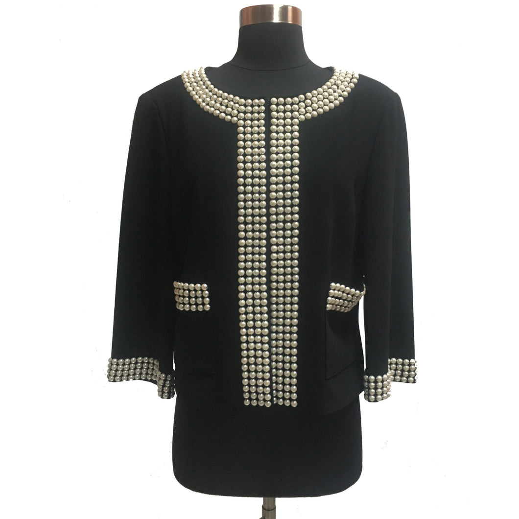 St. John Pearl Trim Jacket