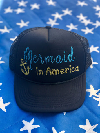 Mermaid in America Hat