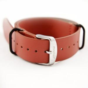 Salmon Leather Strap