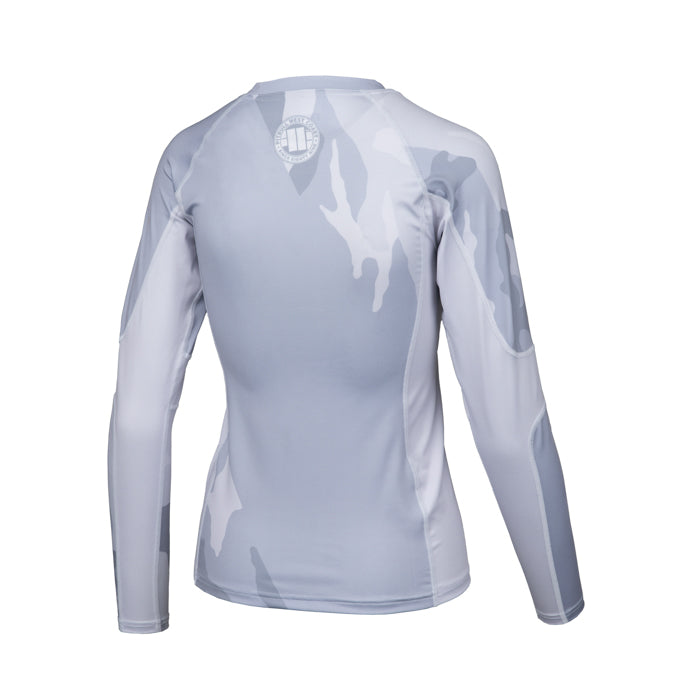 White Camo Women Rashguard Long Sleeve