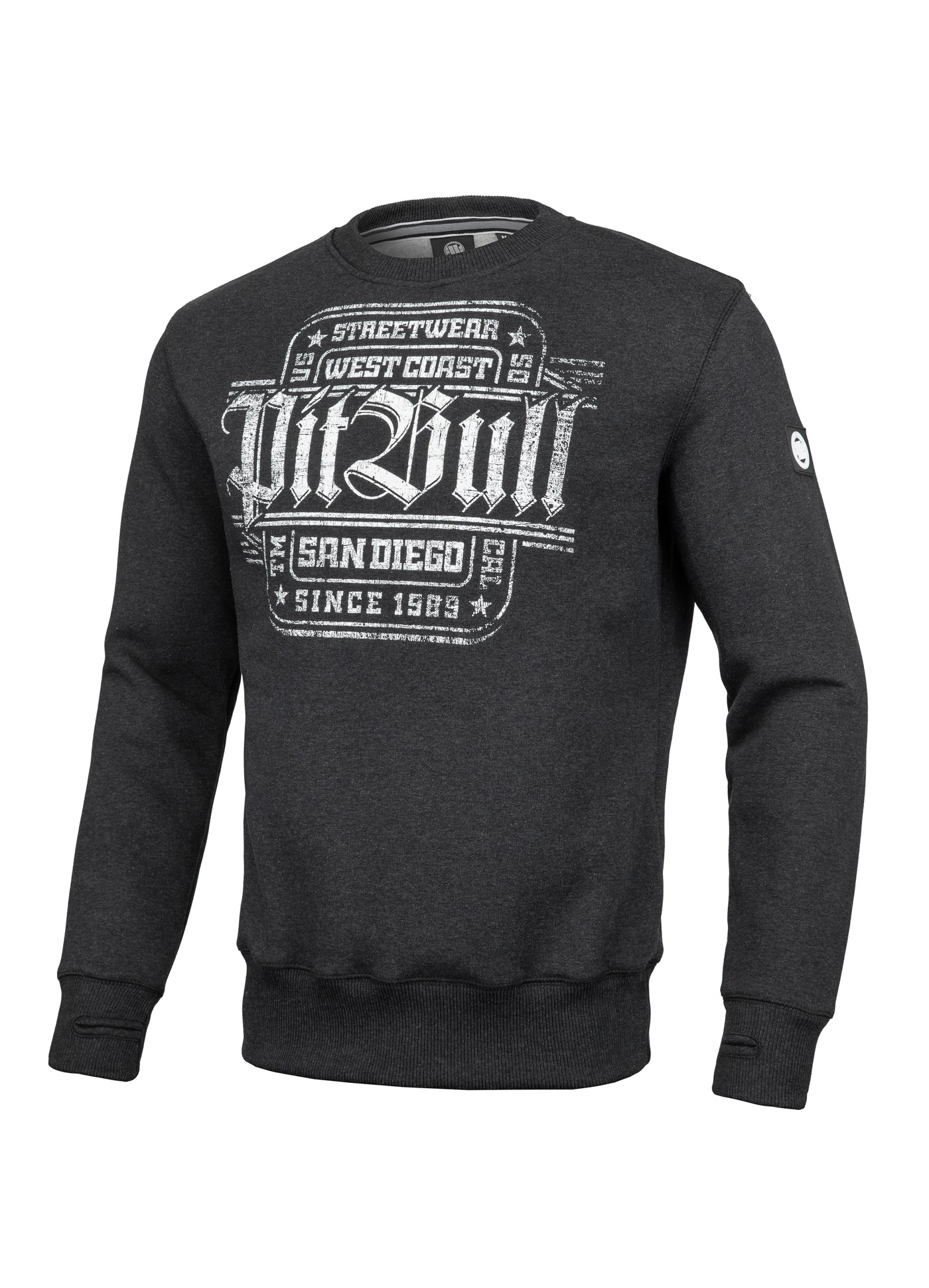 Crewneck SAN DIEGO IV Charcoal - Pitbull West Coast  UK Store