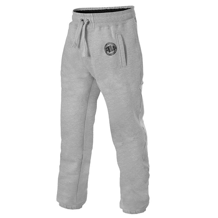 Jogging Trousers Logo PitBull Grey - pitbullwestcoast
