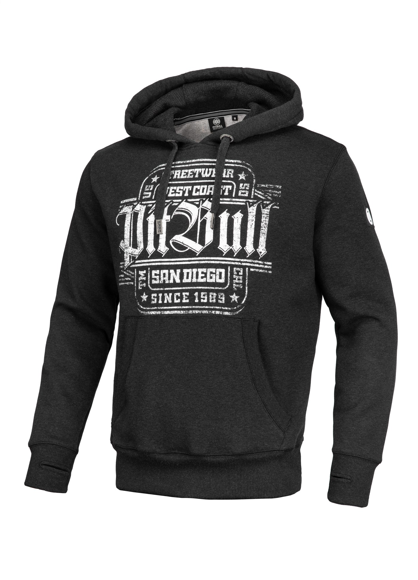 Hoodie SAN DIEGO IV Charcoal - Pitbull West Coast  UK Store
