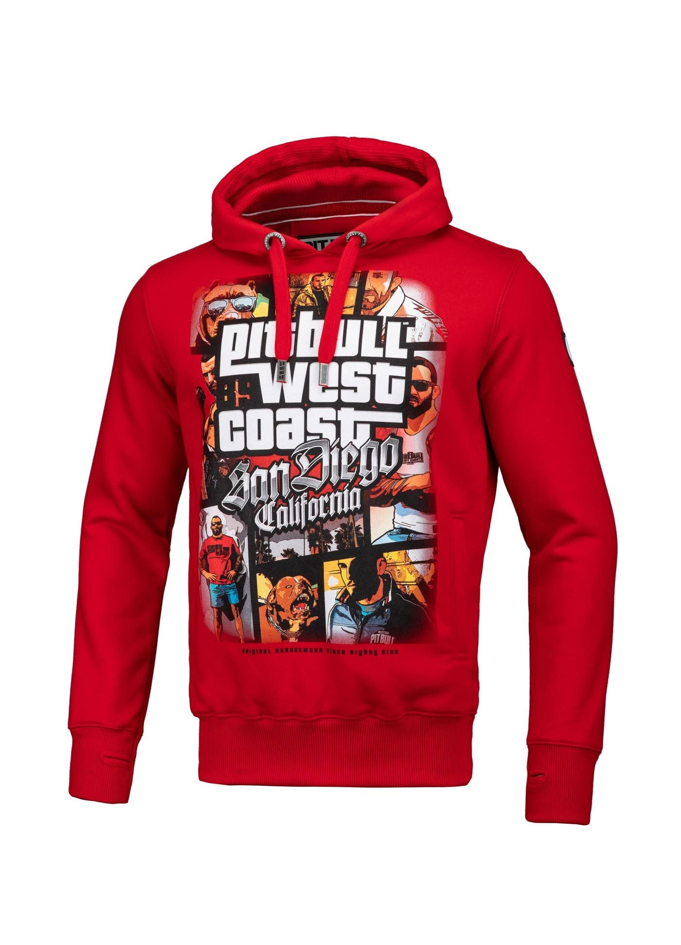 MOST WANTED HOODIE RED - pitbullwestcoast