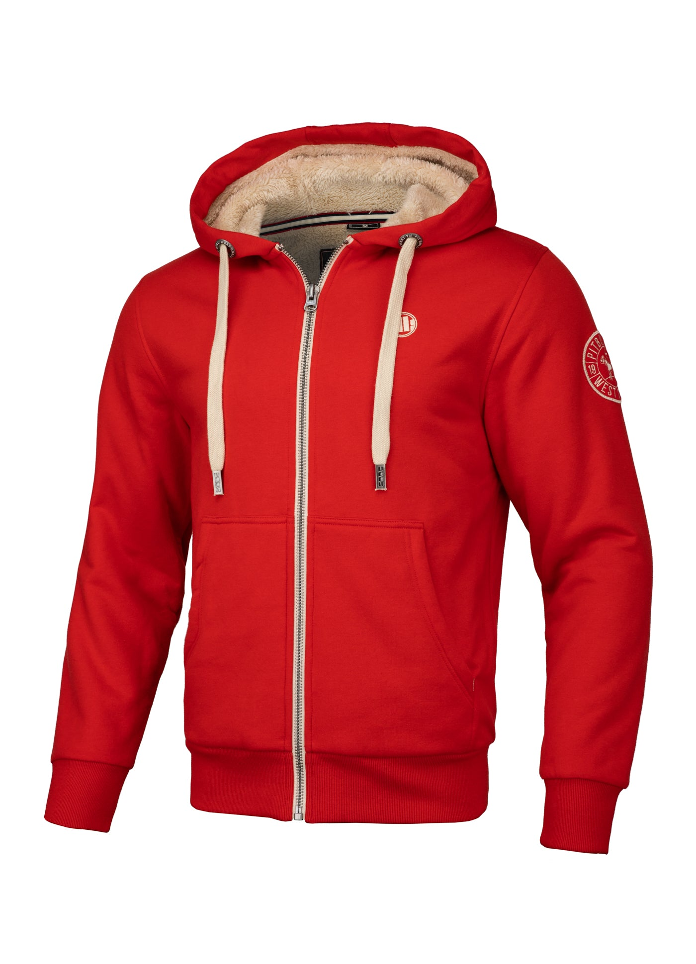 Hooded Sweatjacket SHERPA RUFFIN Red