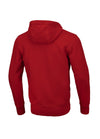 HOODED ZIP SMALL LOGO 19 RED - pitbullwestcoast