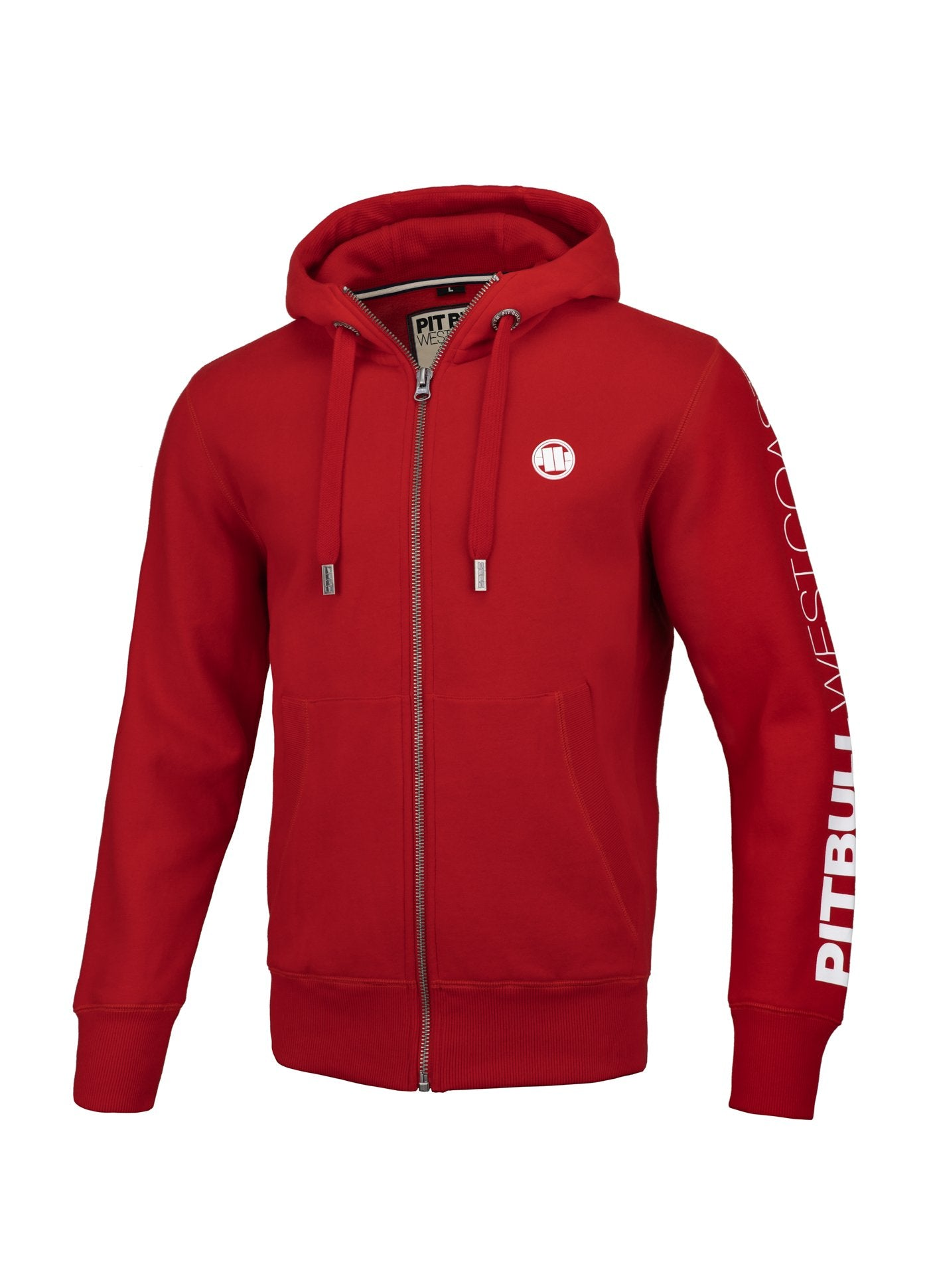 HOODED ZIP SLEEVE TNT RED - pitbullwestcoast