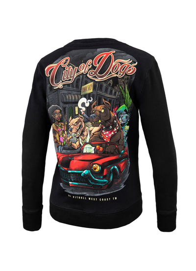 WOMEN CREWNECK City of Dogs BLACK