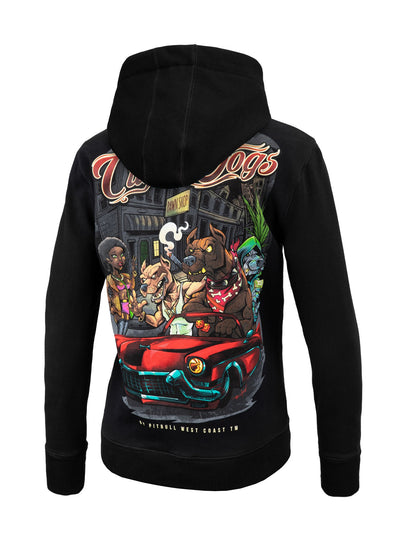 Women Hoodie City of Dogs Black