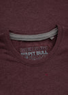 T-shirt NO LOGO Burgundy Melange - pitbullwestcoast