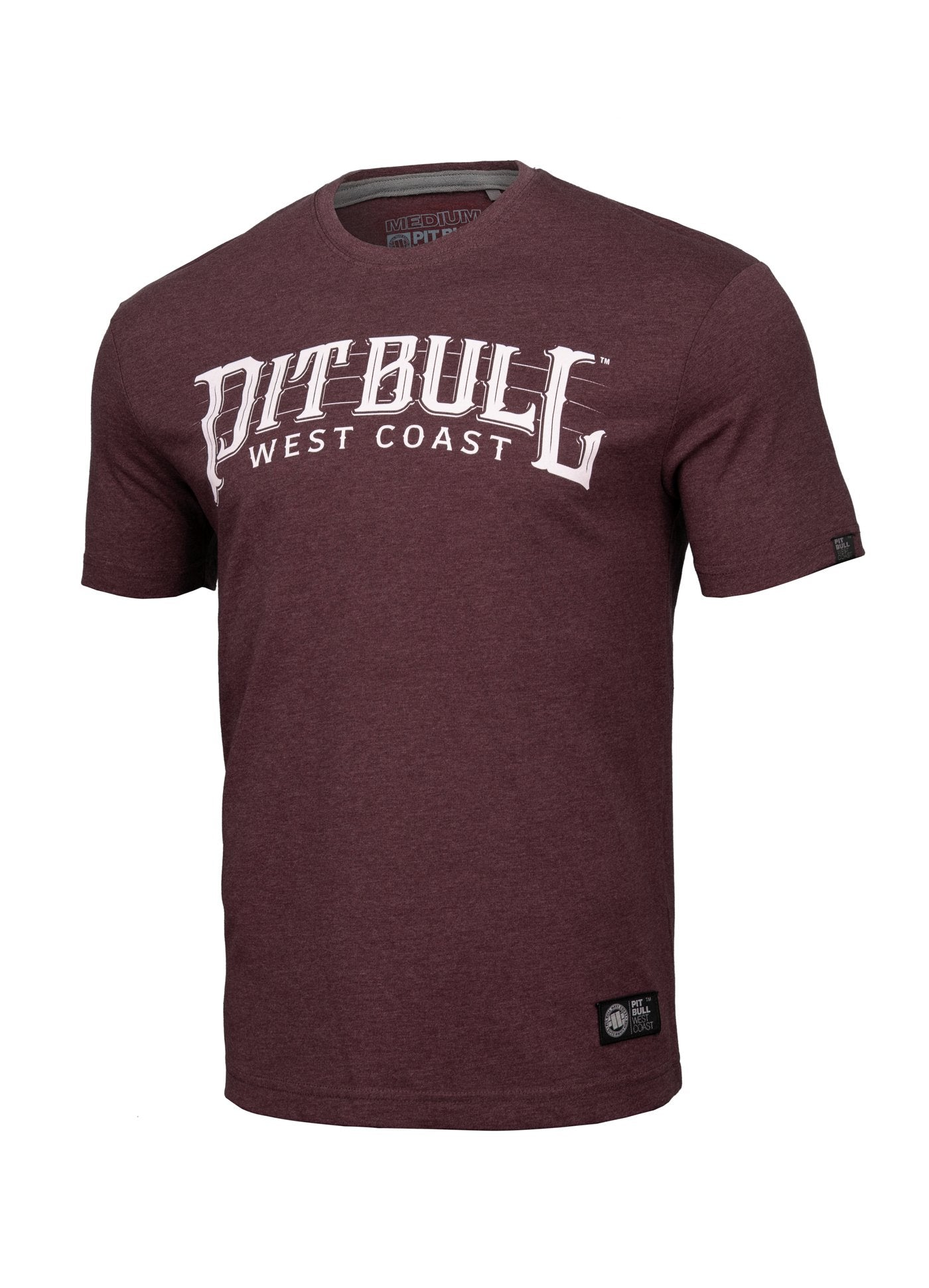 T-Shirt BASIC FAST Burgundy MLG - pitbullwestcoast